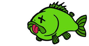 Мертвая аквариумная рыбка